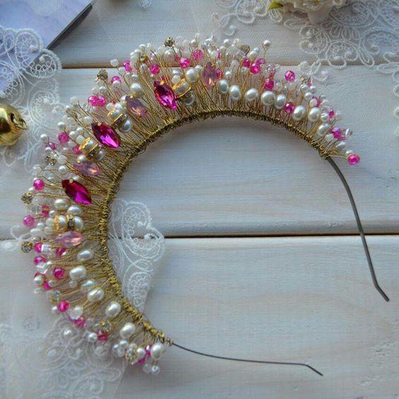 Beautiful sparkling hair tiara
