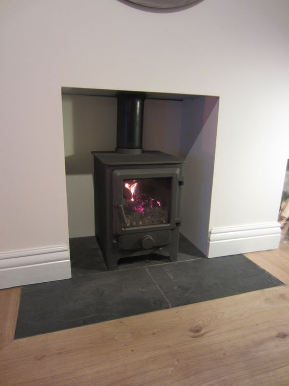 Slate Hearth Fires Pinterest Stove Hearth Tiles And
