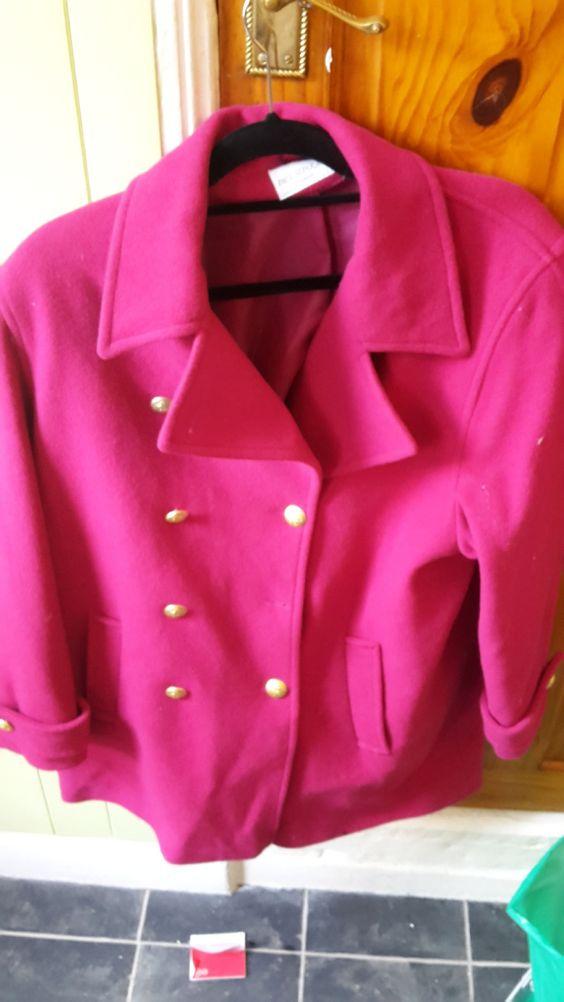 Paul seperates pink 80% wool coat size medium | womens jackets