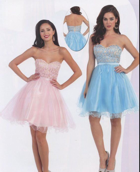 3 Color Sweet 16 Tulle Cocktail Short Dance Dress Homecoming Evening Gown 4-16