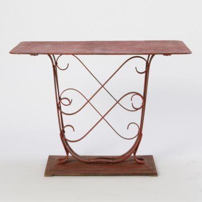 Antique Console Table in Garden PLANTERS Terrain Collective at Terrain