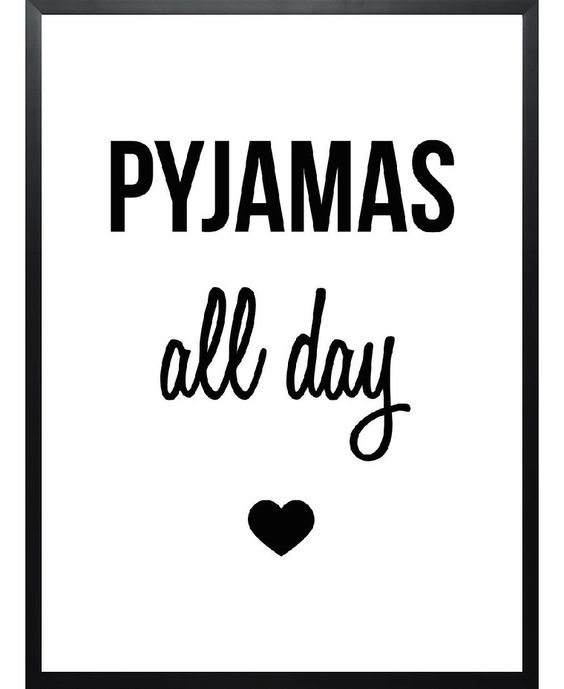 Print: Pyjamas all day