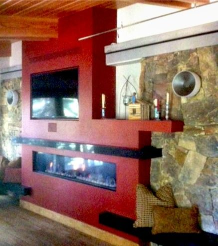 Completed by GCS Location: Breckenridge, CO A new, modern, designer fireplace. Call us to find out which it is and to get one today! www.goodrichchimney.com
