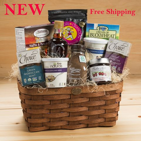 Gluten free premium breakfast gift basket products negle Choice Image
