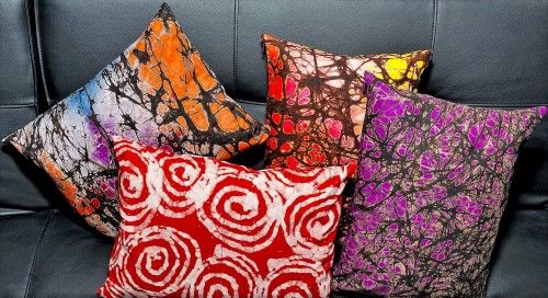 Batik Printed Pillows love the red
