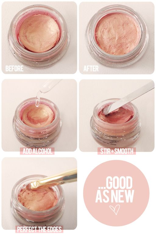 How to restore dried out makeup #DIY