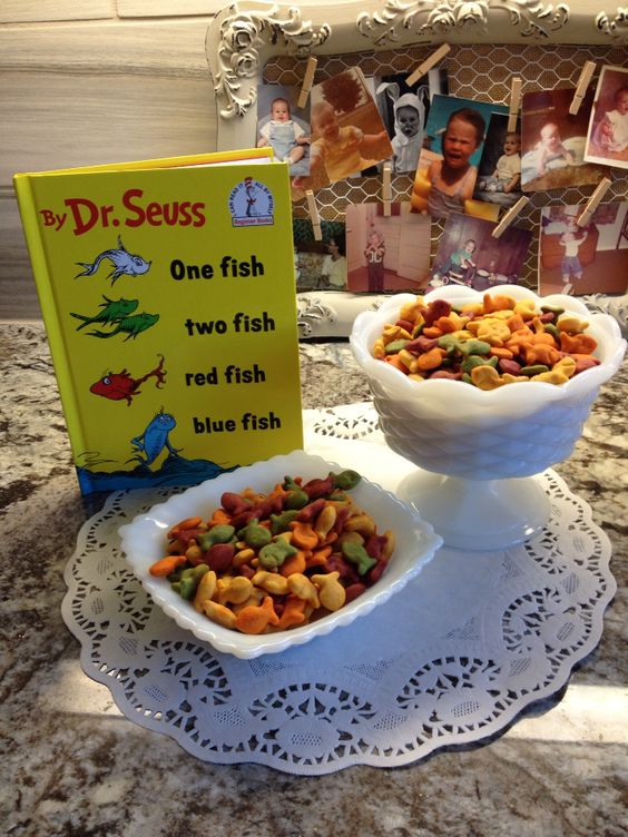 Dr Seuss baby shower snack ! So cute for everyone to love .