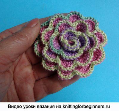 Flores de ganchillo flor como tejer crochet tejido - Como hacer flores de ganchillo ...