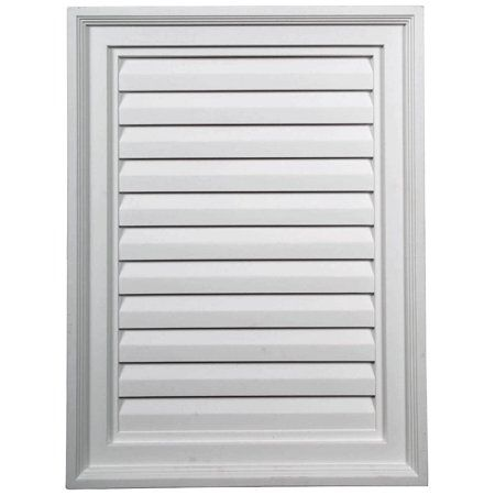 18 W X 24 H X 2 1 4 P Vertical Gable Vent Louver Non Functional Walmart Com In 2020 Gable Vents Ekena Millwork Millwork