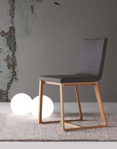 Esszimmer Stuhl Mit Gepolsterten Sitz, Lineare Stühle, Linearer Esszimmerstuhl, Stühle Mit Gepolsterter Sitzfläche Halley
