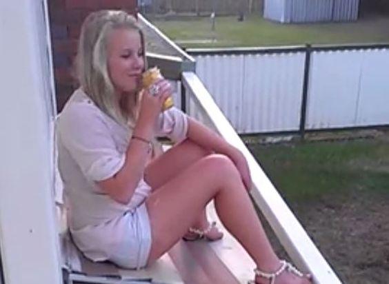 Drunk Awning sitting