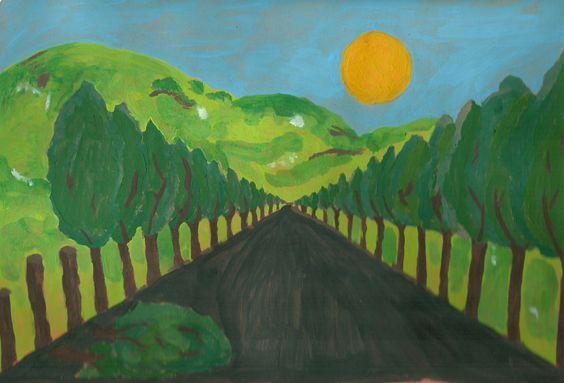 """Prospettive: bosquejo para el mural """"No pierdas tus perspectivas"""" """"No a la tala indiscriminada de arboles"""""""