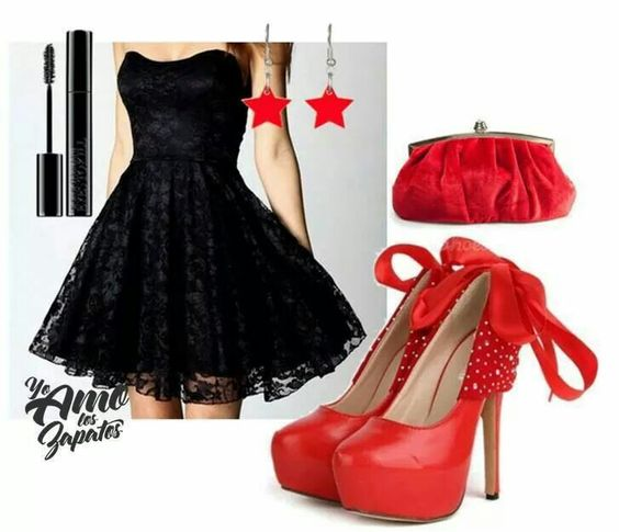 Love red and black♡