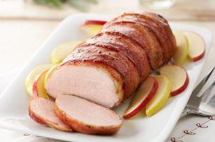 #kraftrecipes Bacon-wrapped Pork Tenderloin