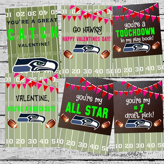 Seahawks valentines by ladybugdesignpro on etsy home for Valentines day ideas seattle