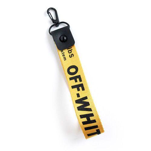 New Yellow Off White Key Chain Lanyard Brand New Key Chain