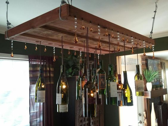 Depiction of DIY: How to Recycle Wine Bottle into Chandelier