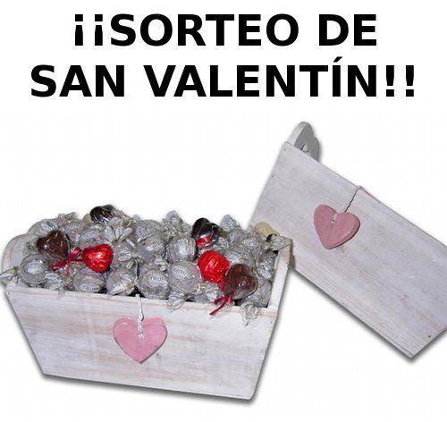 Sorteo de Caja de Trufas, Bombones y Piruletas por San Valentín.  Link http://www.unabuenarecomendacion.com/index.php/sorteos/4066-sorteo-de-san-valentin-con-confituras-goya