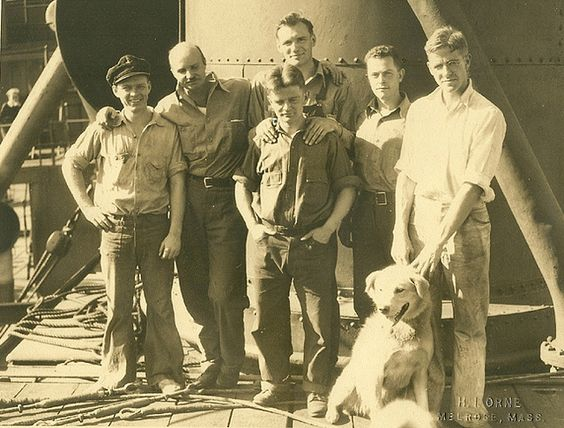 """Admiral Byrd's 2nd Expedition to the South Pole, the Dog Driving Team.  My grandfather, Francis """"Duke"""" Dane II is at the far left."""
