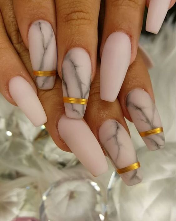 FiercebyPatricia - Marble matte nails pinterest @trulynessa89 ☆