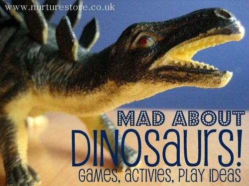 Do you know someone who's mad about dinosaurs? Learning's lots more fun when you use your kid's passion as a springboard. Ideas here for dino math, literacy, art, songs....