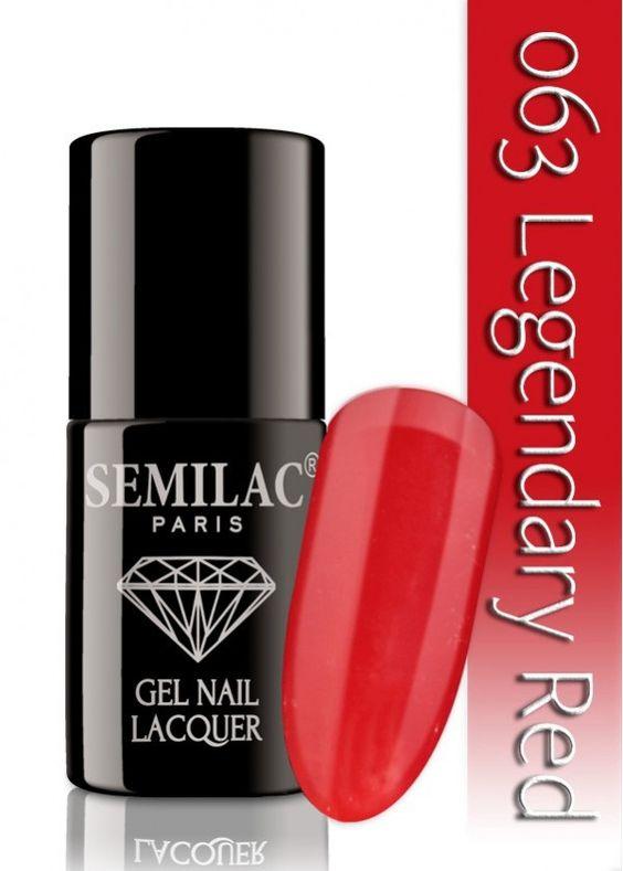 semilac 063 legendary red uv led nagellack auch ohne. Black Bedroom Furniture Sets. Home Design Ideas