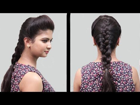 Easy Bridal Hairstyles For Wedding Or Function Hairstyles For Girls Playeven Fashions Youtube Traditional Hairstyle Girl Hairstyles Hair Puff