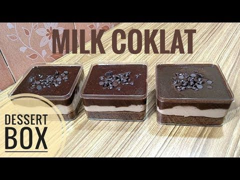Brownie Milk Coklat Desserts Dessert Boxes Chocolate Deserts