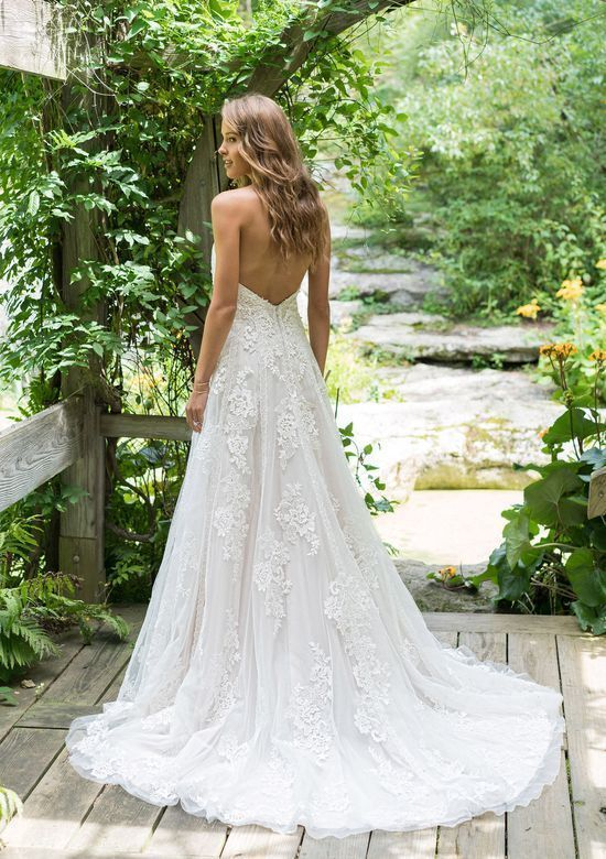 Loving This Boho Lace Vibe From The Lillian West Wedding Dress Weddingdress Lillianwest Lillian West Wedding Dress Romantic Wedding Gown A Line Wedding Dress