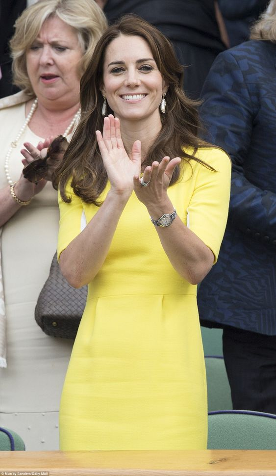 Round of applause: Earlier in the day Kate told Serena Williams' mother Oracence Price she was very much looking forward to the game and she wasn't shy about showing he appreciation for her performance on the court