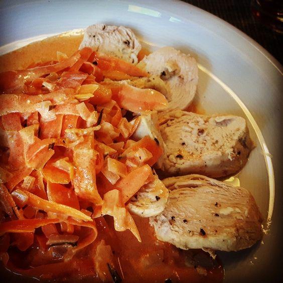 Pollo albicocca - Aprikosen-Huhn  #Food #foodblog #foodporn #italian #chicken