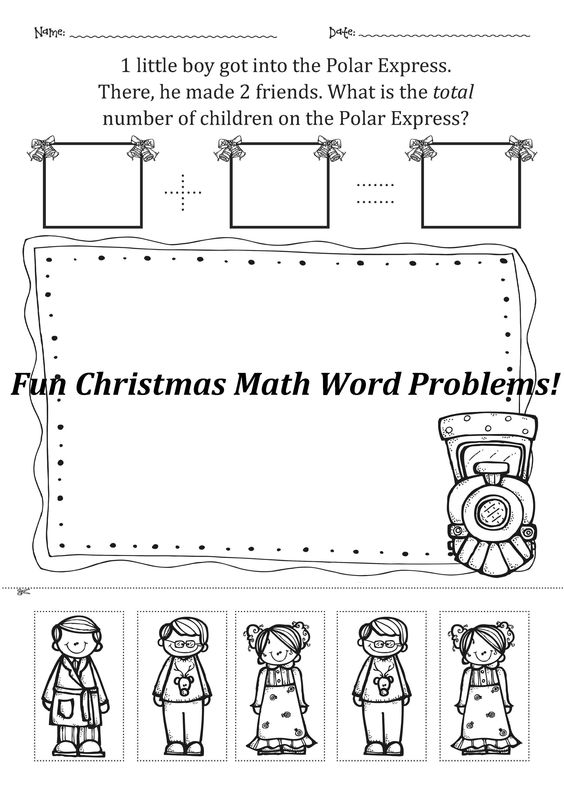 christmas math worksheets and math word problems kindergarten and first grade pinterest. Black Bedroom Furniture Sets. Home Design Ideas