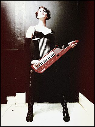 Amanda F Palmer and the Grand Theft Orchestra. Keytar FTW.