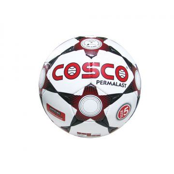 Product Description  The Cosco Permalast Football Classic Black & White cosmetic with Permalast (highly durable) top cover.  Features  Synthetic Hand Sewn  Classic Black & White cosmetic with Permalast (highly durable) top cover.  Fitted with latex bladder.  Good shape retention and high rebound.  Available in size 5 & 4.