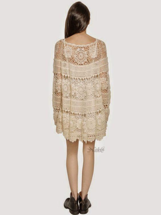 Katia Ribeiro Moda & Decoração Handmade: Túnica em crochê com gráfico dos pontos