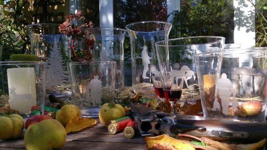 Einmal waschen, schneiden, sandstrahlen! 100% recycelte Flaschengläser von Boninée.   Klüngelkram