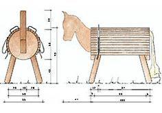Bauzeichnung Holzpferd: