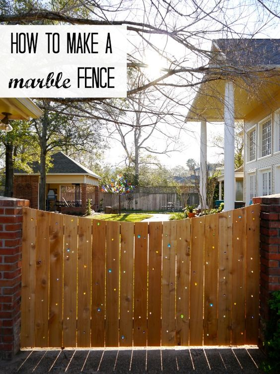 How to make a marble fence (via @thecraftblog ) @Jamie Dorobek {C.R.A.F.T.}