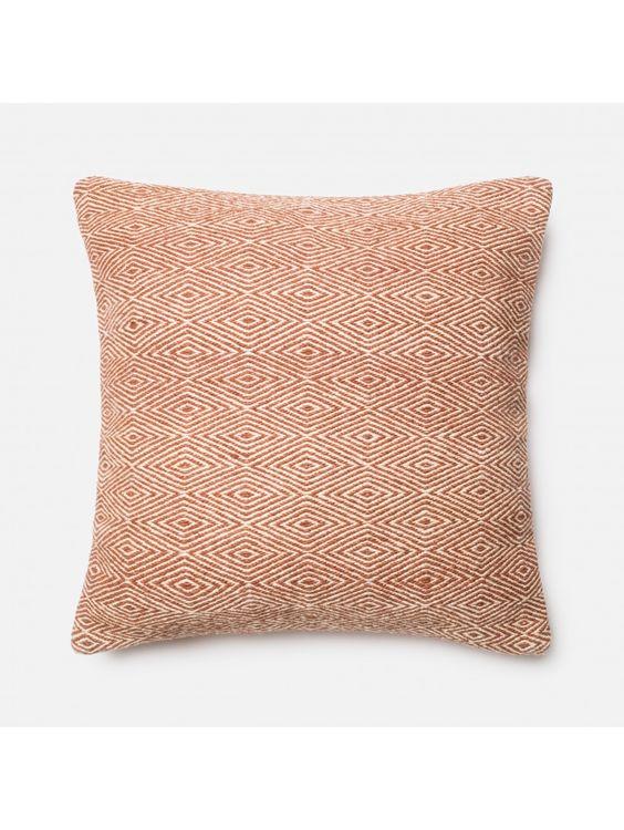 Darlene Diamond Pillow, Orange