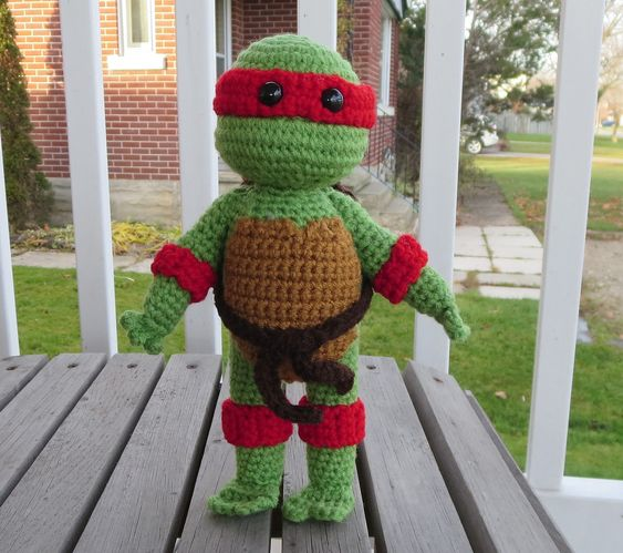 Olaf Amigurumi Crochet Pattern : Ravelry: Teenage Mutant Ninja Turtle by Nicholes Nerdy ...