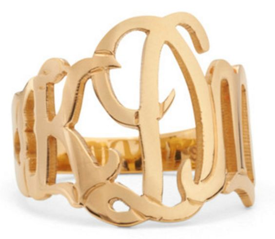 Cut-Out Monogram Ring