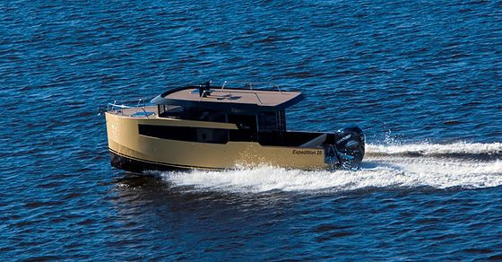 Expedition 26 Aluminum Cabin Boat Modern Yachts Boat Yacht