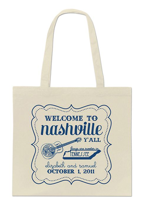 Nashville wedding weekend welcome tote - free overlay download to take to your screenprinter!