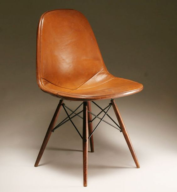 eames dsw chair leather bedroomterrific eames inspired tan brown leather short