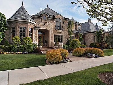 Image Stone And Brick Exterior French Country Home Visit