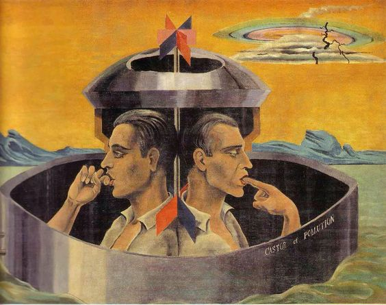 Castor and Pollution, by Max Ernst, 1923. Oil on canvas