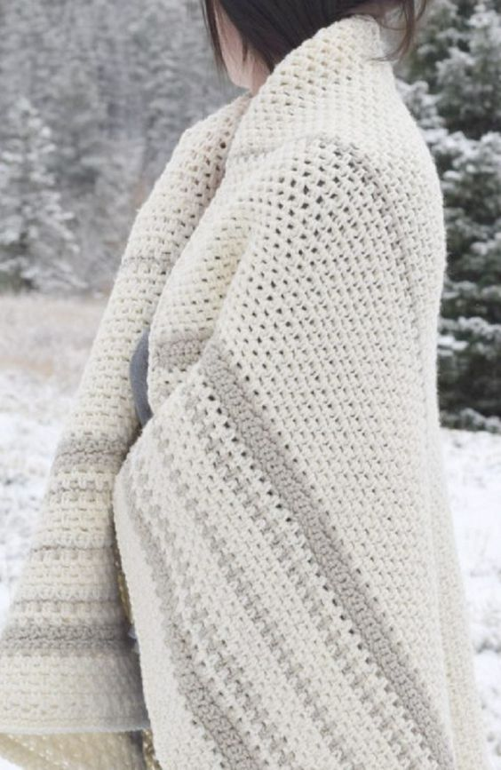 This afghan is one of the soft options that's homemade and handmade. It can be somewhat warm (usually a little more than with a fleece or throw blanket).