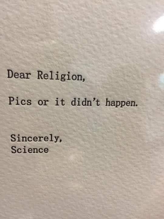 Dear religion...