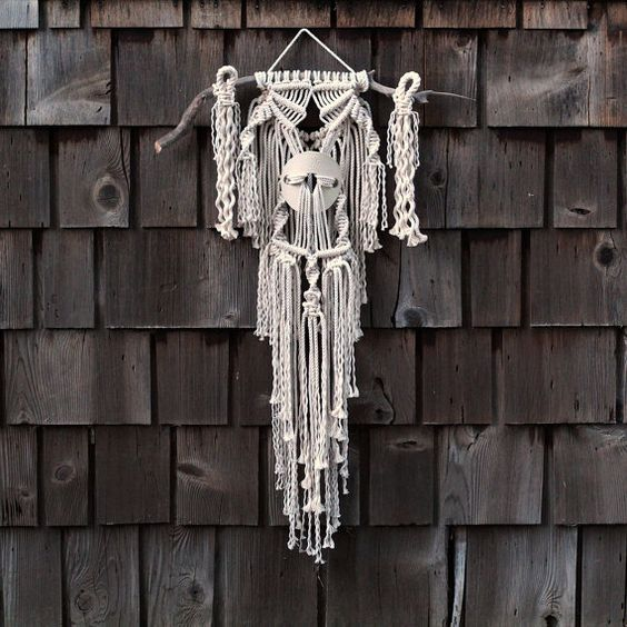 One of a Kind Macramé Wall Hanging by FreeCreatures on Etsy
