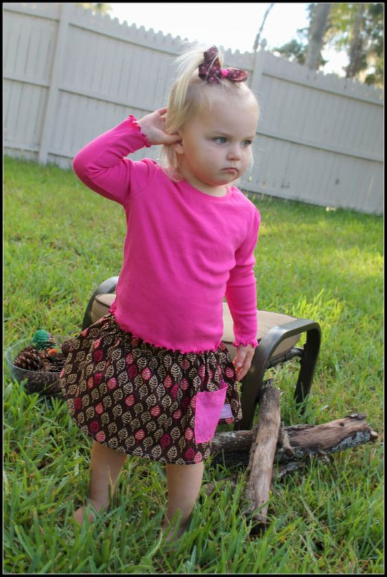 Fall Children's Skirt....Leaf Fall Skirt with by girliebowsgalore,